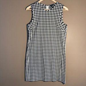 Theory gingham sleeveless dress